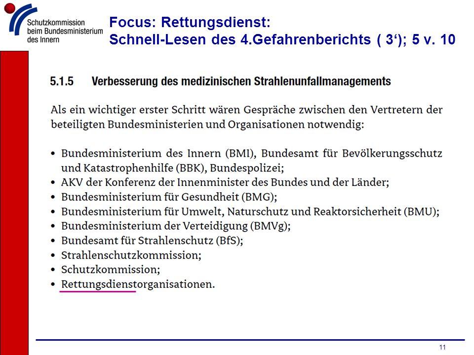 Focus: Rettungsdienst: Schnell-Lesen des 4.Gefahrenberichts ( 3'); 5 v. 10