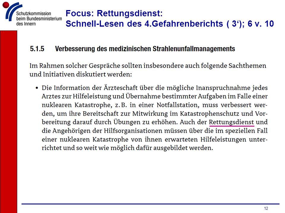 Focus: Rettungsdienst: Schnell-Lesen des 4.Gefahrenberichts ( 3'); 6 v. 10