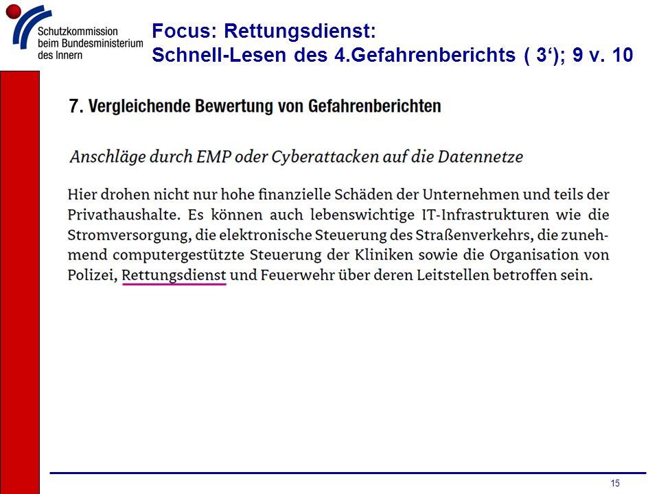 Focus: Rettungsdienst: Schnell-Lesen des 4.Gefahrenberichts ( 3'); 9 v. 10