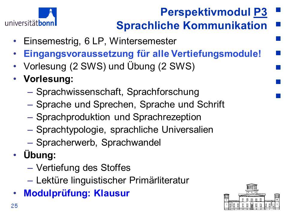 Perspektivmodul P3 Sprachliche Kommunikation