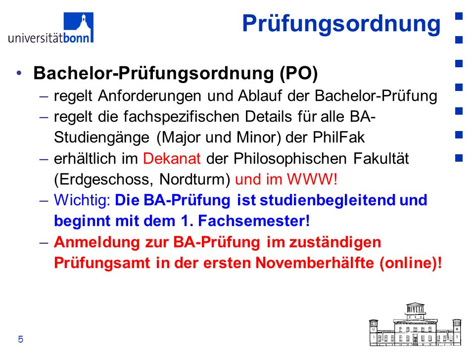 Prüfungsordnung Bachelor-Prüfungsordnung (PO)