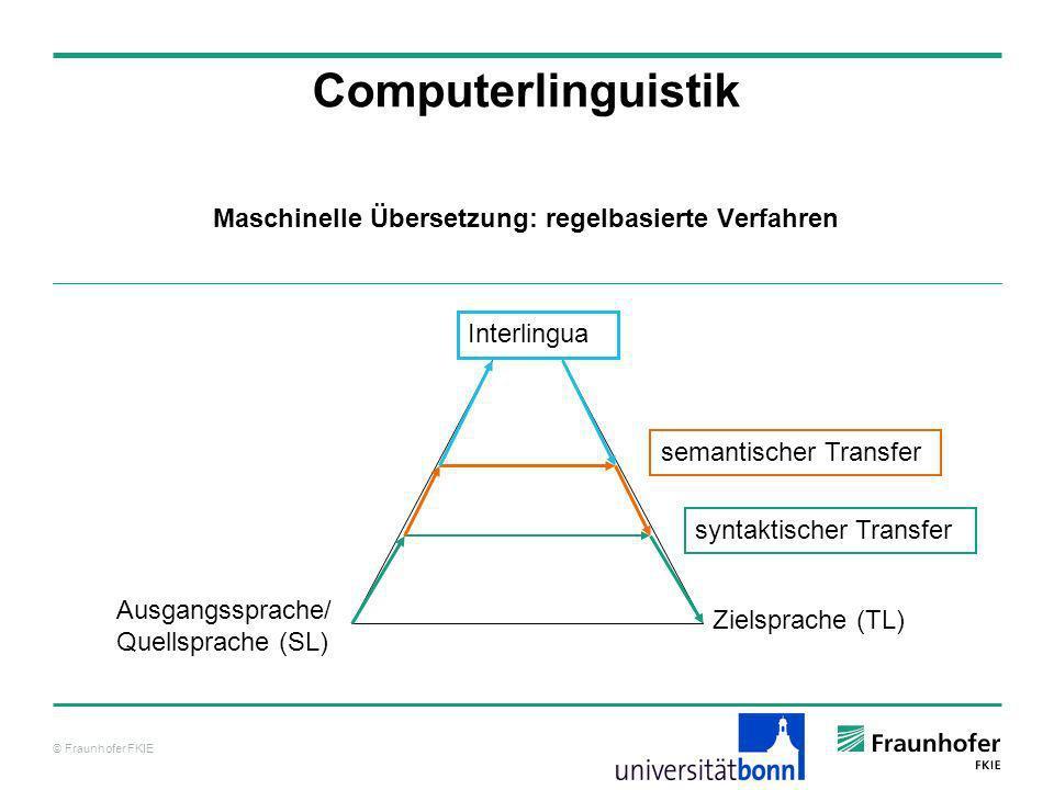 Maschinelle Übersetzung: regelbasierte Verfahren