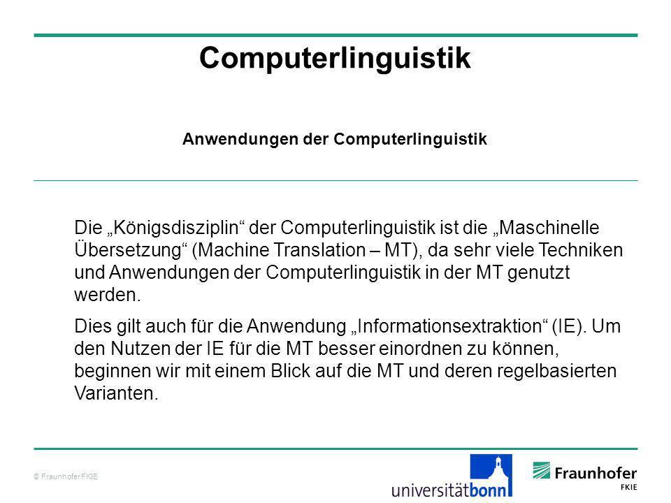Anwendungen der Computerlinguistik