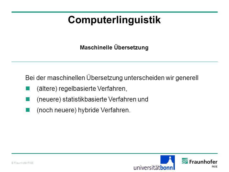 Maschinelle Übersetzung