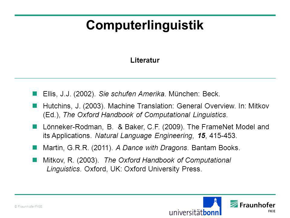 Computerlinguistik Literatur