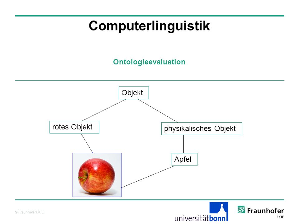 Computerlinguistik Ontologieevaluation Objekt rotes Objekt