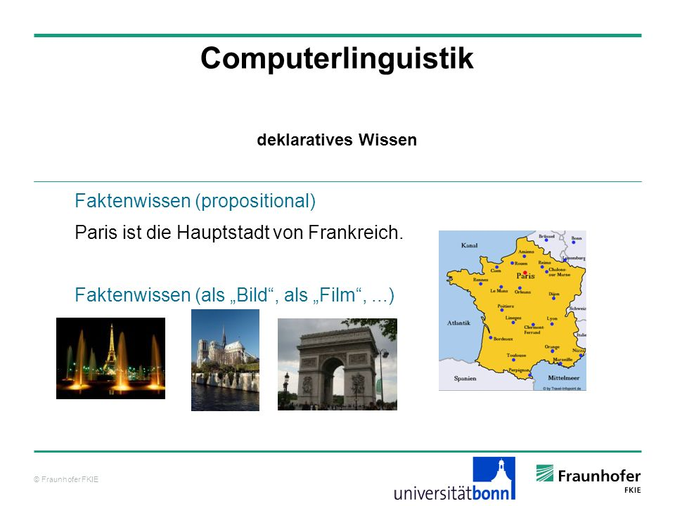 Computerlinguistik Faktenwissen (propositional)