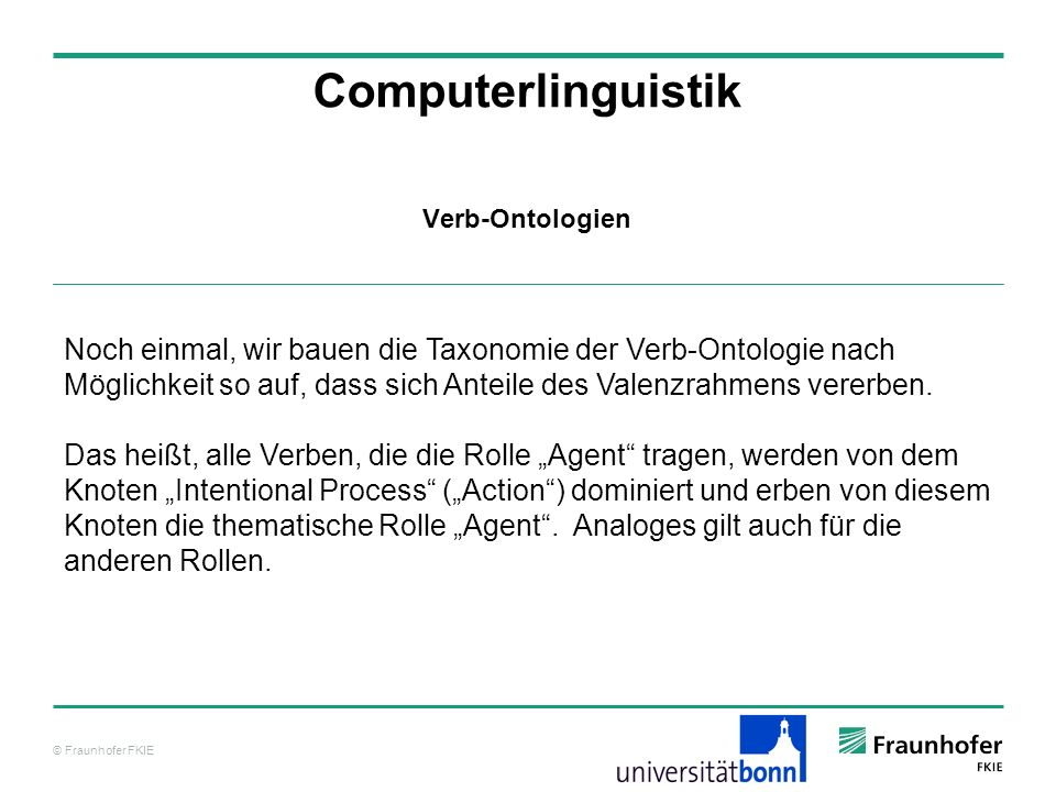 Computerlinguistik Verb-Ontologien.