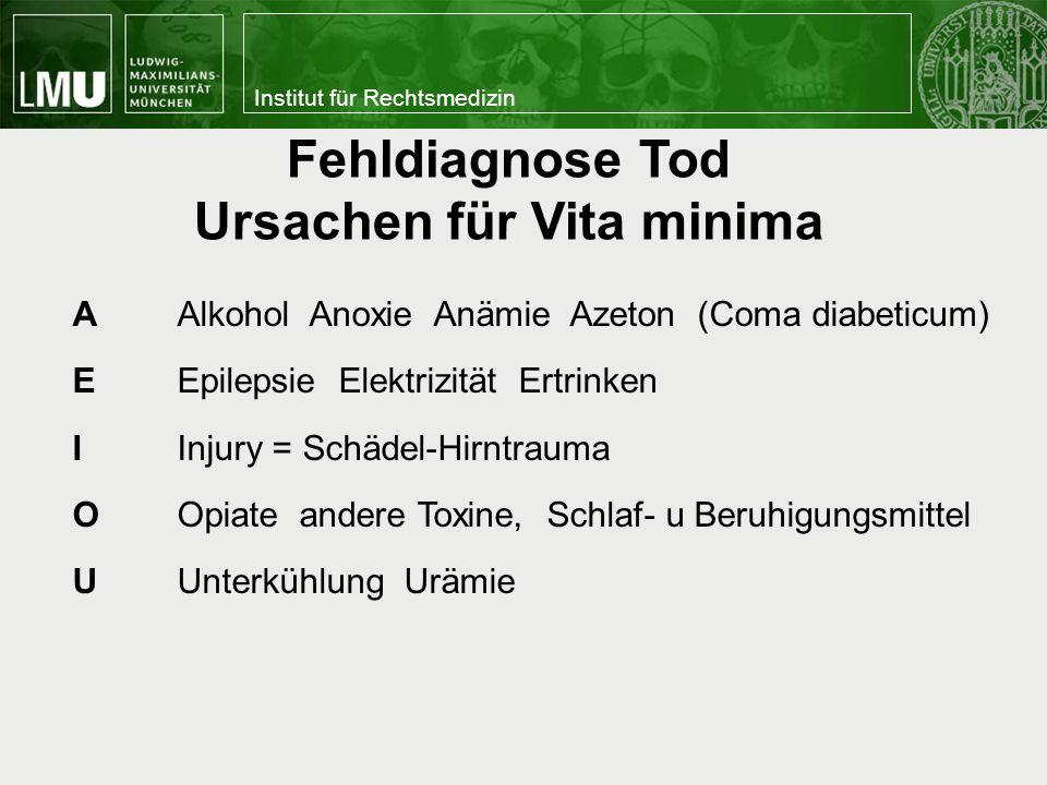 Ursachen für Vita minima