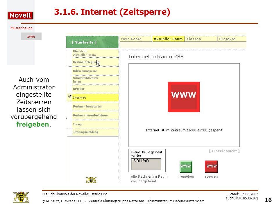 3.1.6. Internet (Zeitsperre)