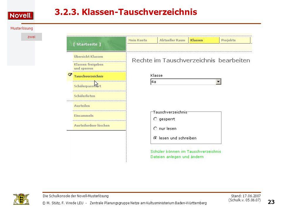 3.2.3. Klassen-Tauschverzeichnis