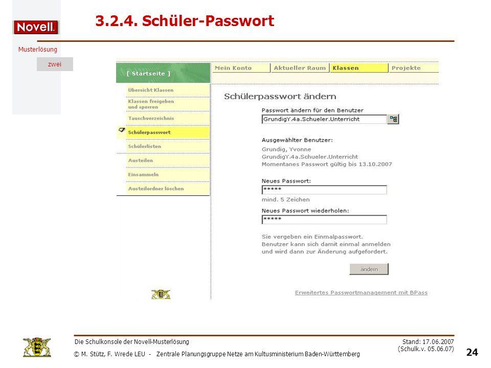 3.2.4. Schüler-Passwort Die Schulkonsole der Novell-Musterlösung