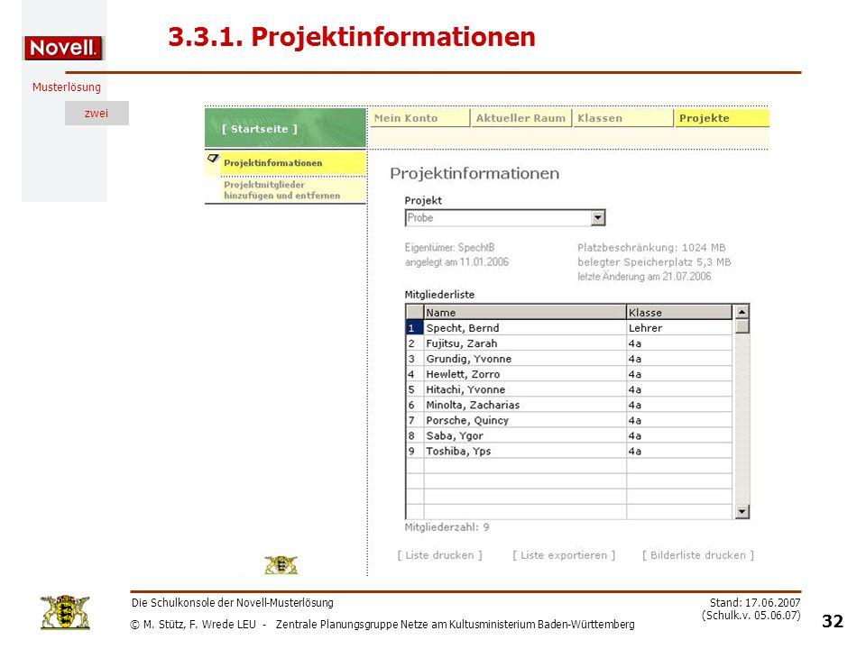 3.3.1. Projektinformationen