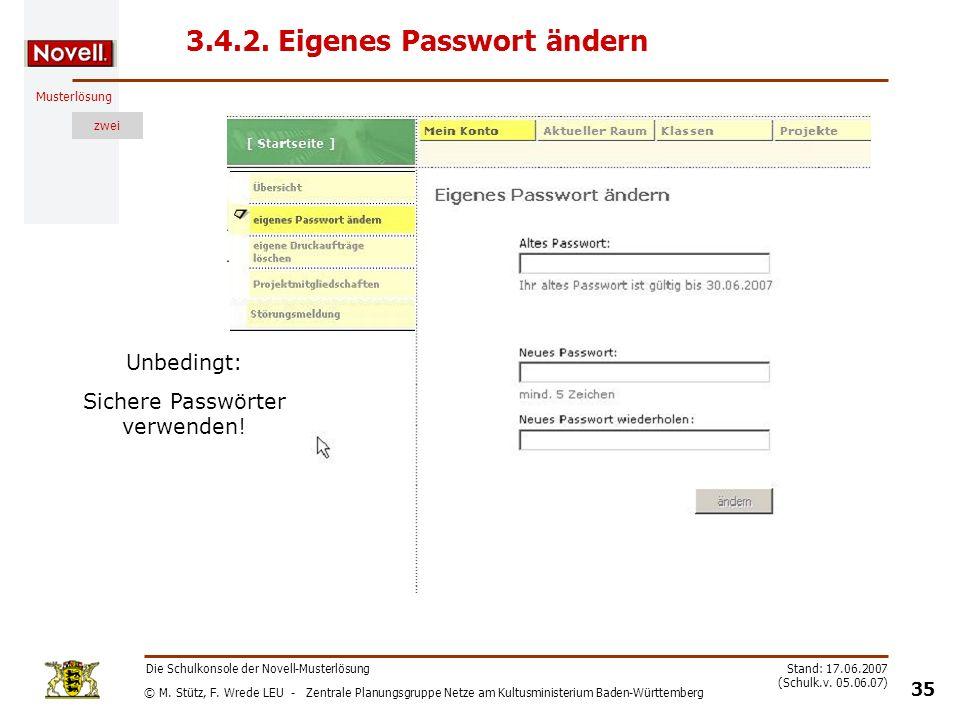 3.4.2. Eigenes Passwort ändern