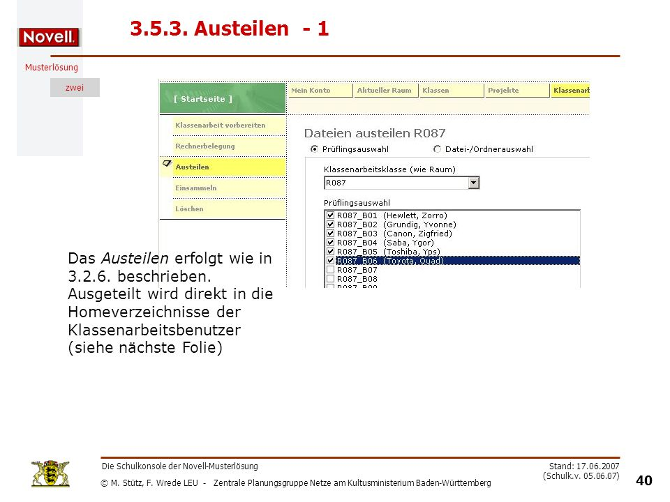 3.5.3. Austeilen - 1