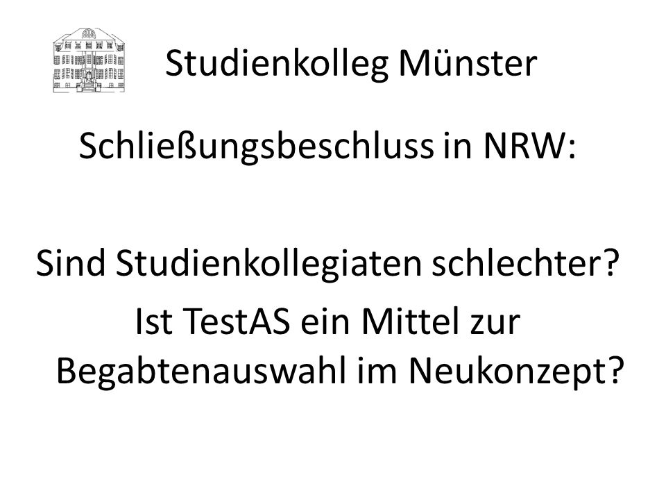 Studienkolleg Münster