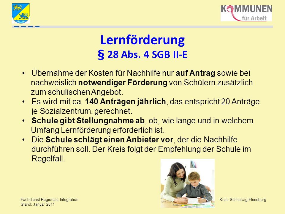 Lernförderung § 28 Abs. 4 SGB II-E