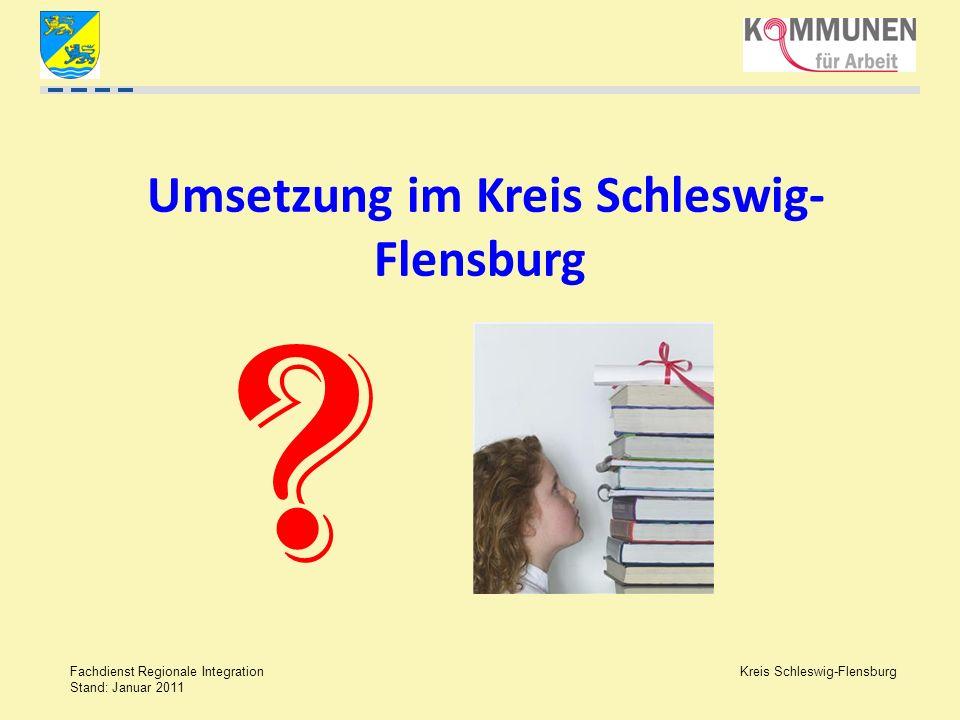 Umsetzung im Kreis Schleswig- Flensburg