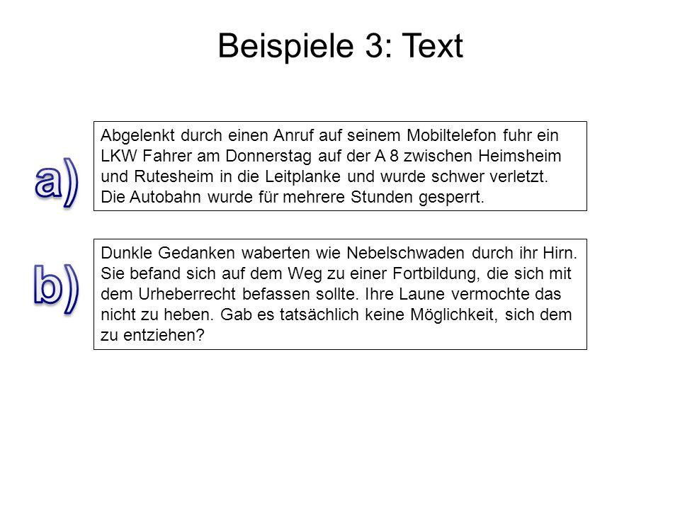 Beispiele 3: Text