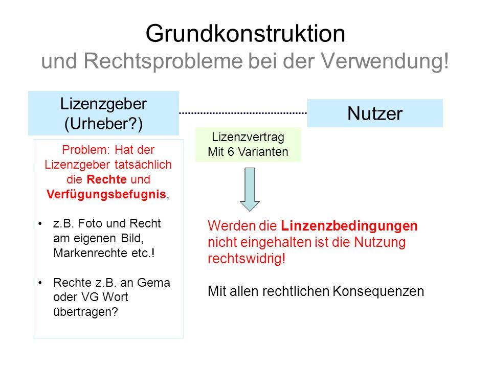 Grundkonstruktion und Rechtsprobleme bei der Verwendung!