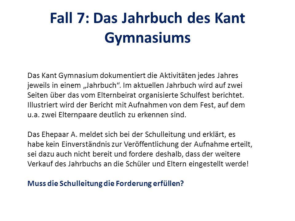 Fall 7: Das Jahrbuch des Kant Gymnasiums
