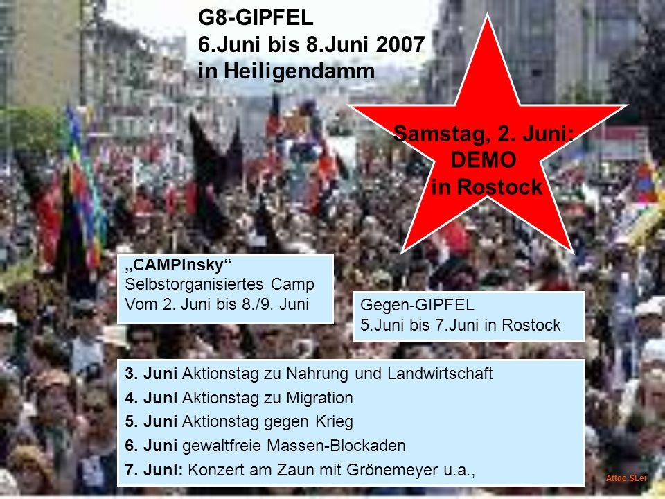 Samstag, 2. Juni: DEMO in Rostock