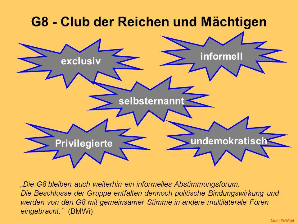 G8 - Club der Reichen und Mächtigen