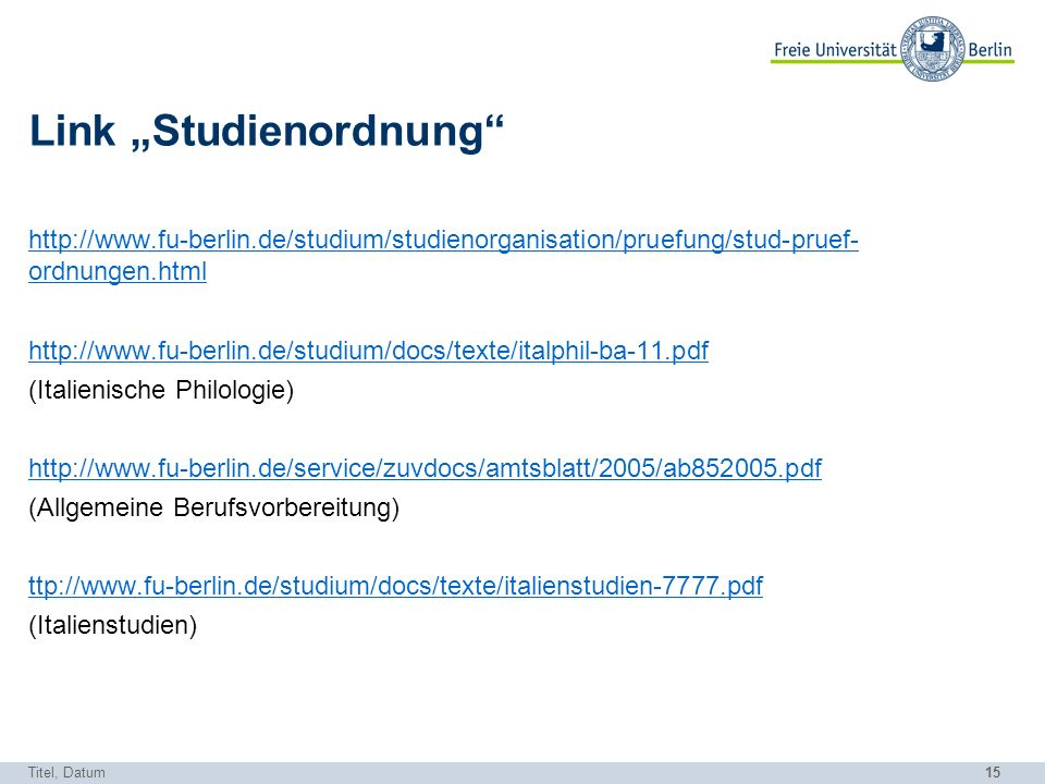 "Link ""Studienordnung"