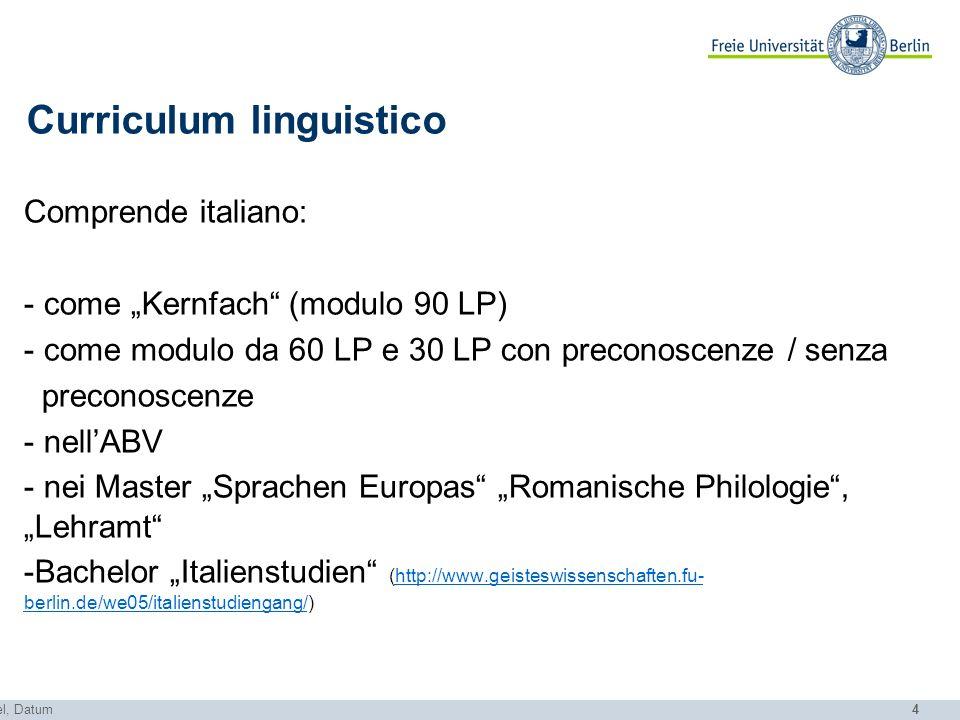 Curriculum linguistico