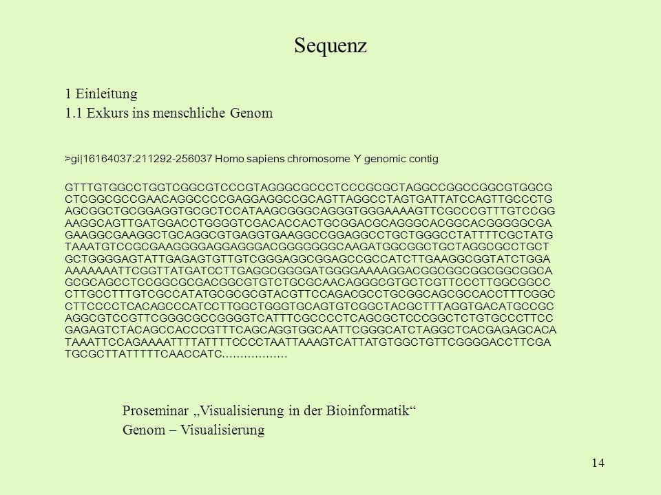 Sequenz 1 Einleitung 1.1 Exkurs ins menschliche Genom