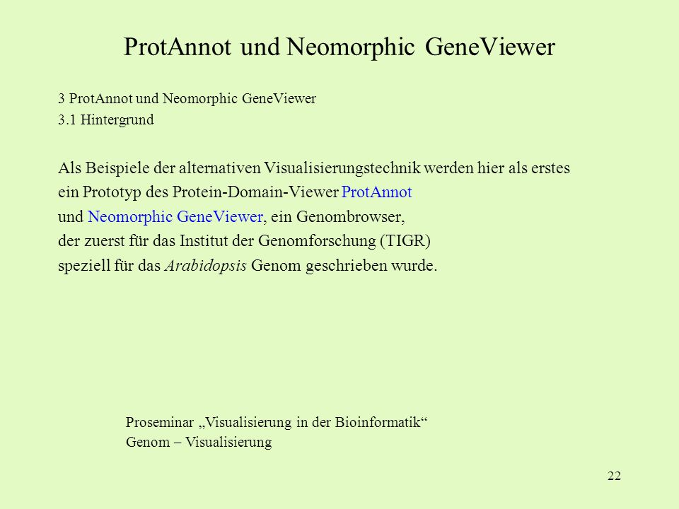 ProtAnnot und Neomorphic GeneViewer