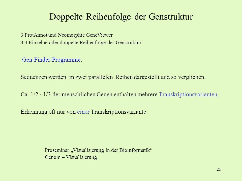 Doppelte Reihenfolge der Genstruktur