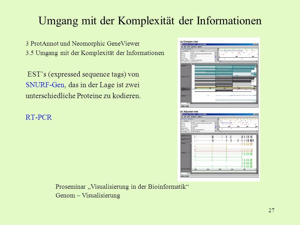 Umgang mit der Komplexität der Informationen