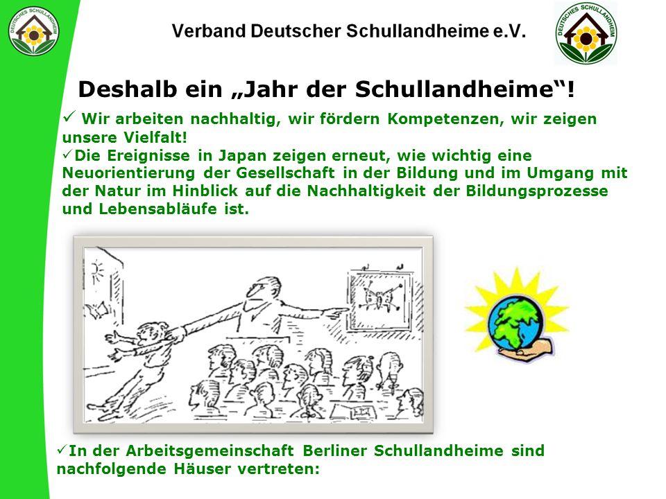 """Deshalb ein """"Jahr der Schullandheime !"""