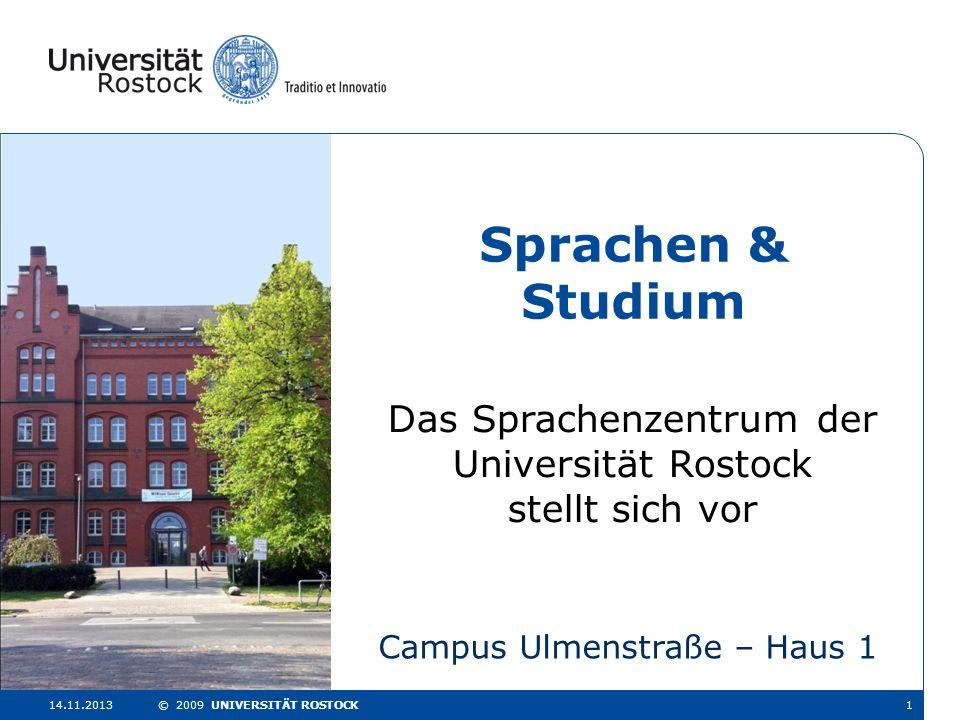 Sprachen & Studium Das Sprachenzentrum der Universität Rostock