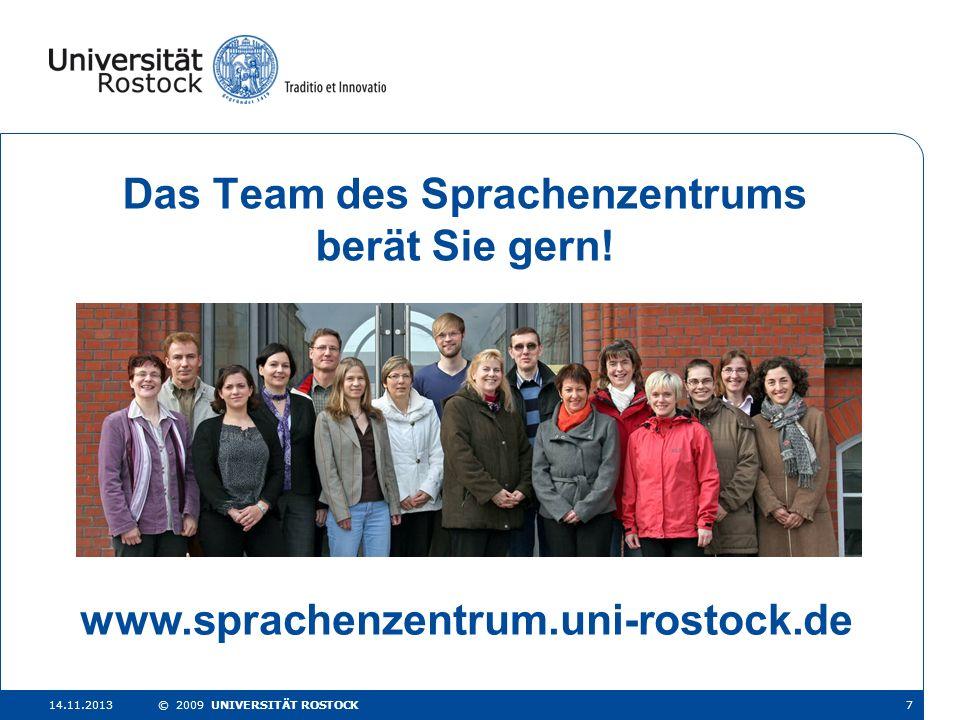 Das Team des Sprachenzentrums berät Sie gern!
