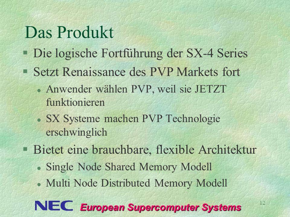 Das Produkt Die logische Fortführung der SX-4 Series