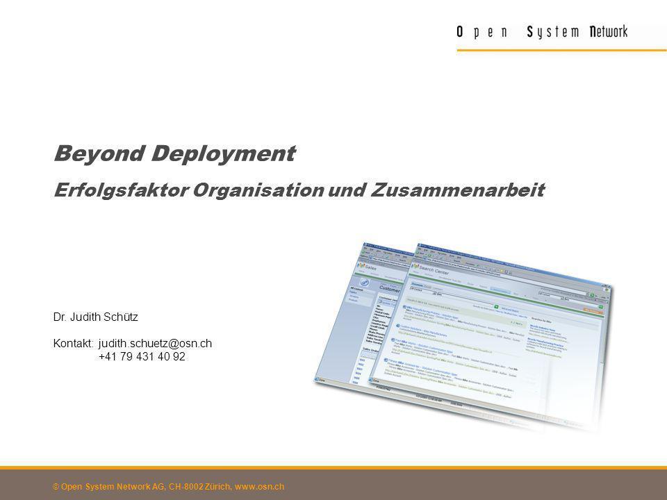 Beyond Deployment Erfolgsfaktor Organisation und Zusammenarbeit