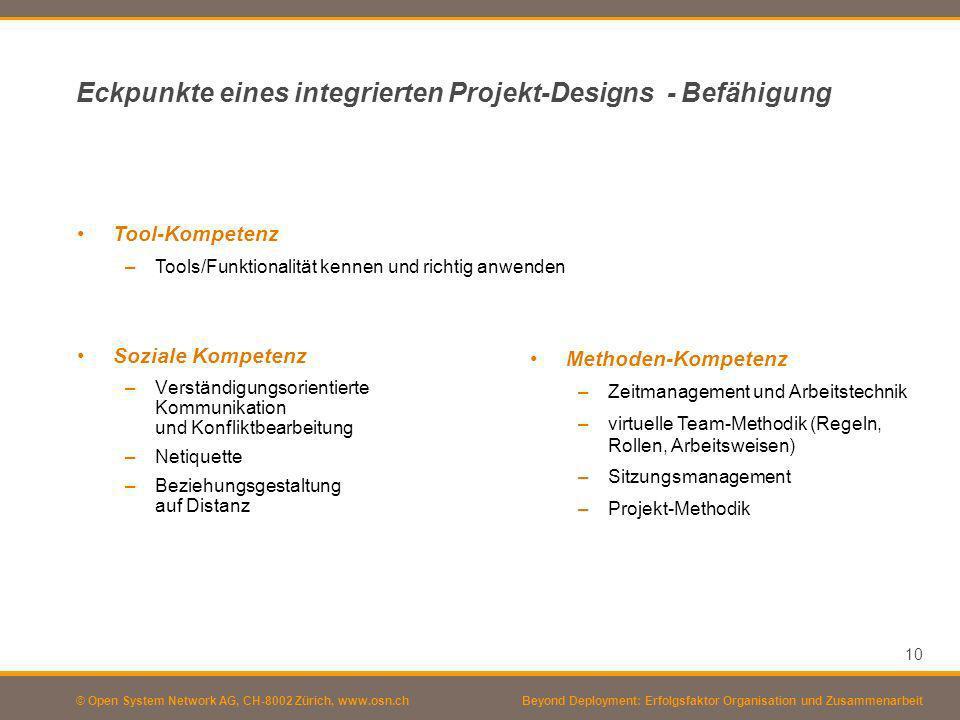 Eckpunkte eines integrierten Projekt-Designs - Befähigung