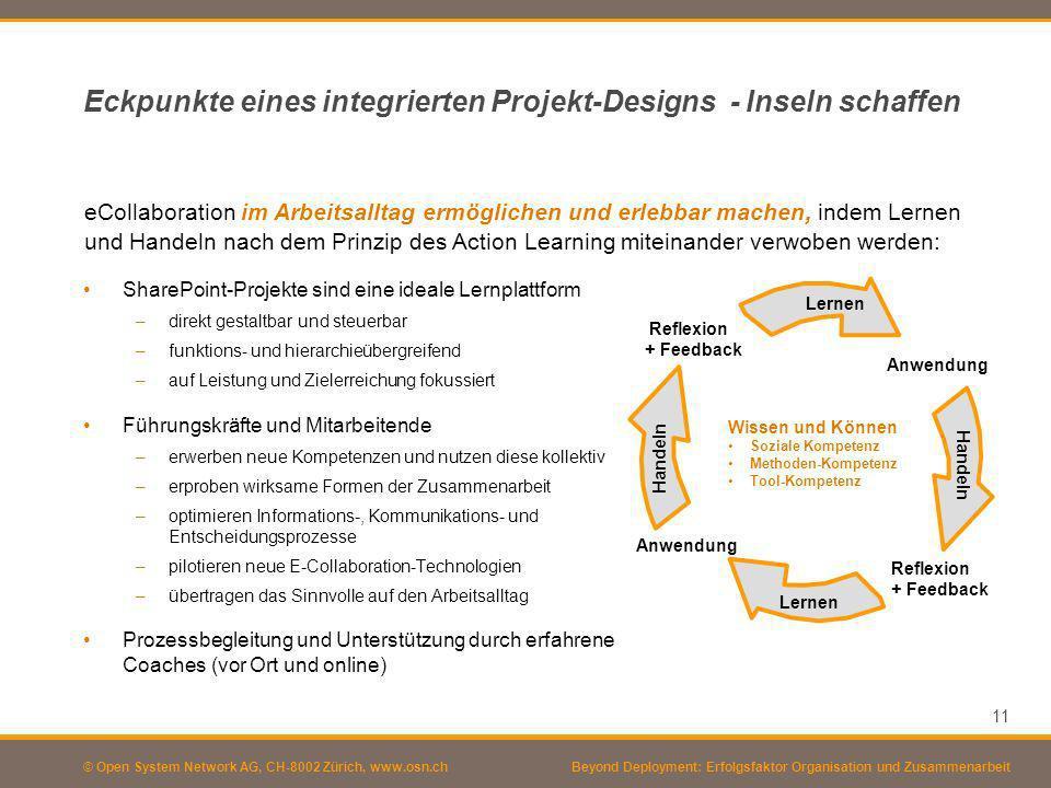 Eckpunkte eines integrierten Projekt-Designs - Inseln schaffen