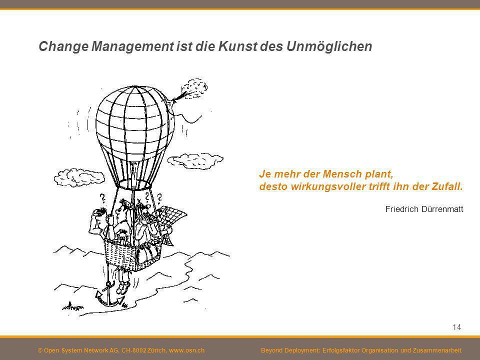 Change Management ist die Kunst des Unmöglichen
