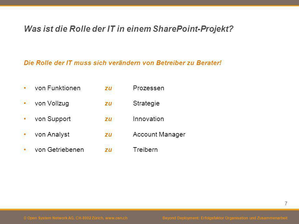 Was ist die Rolle der IT in einem SharePoint-Projekt