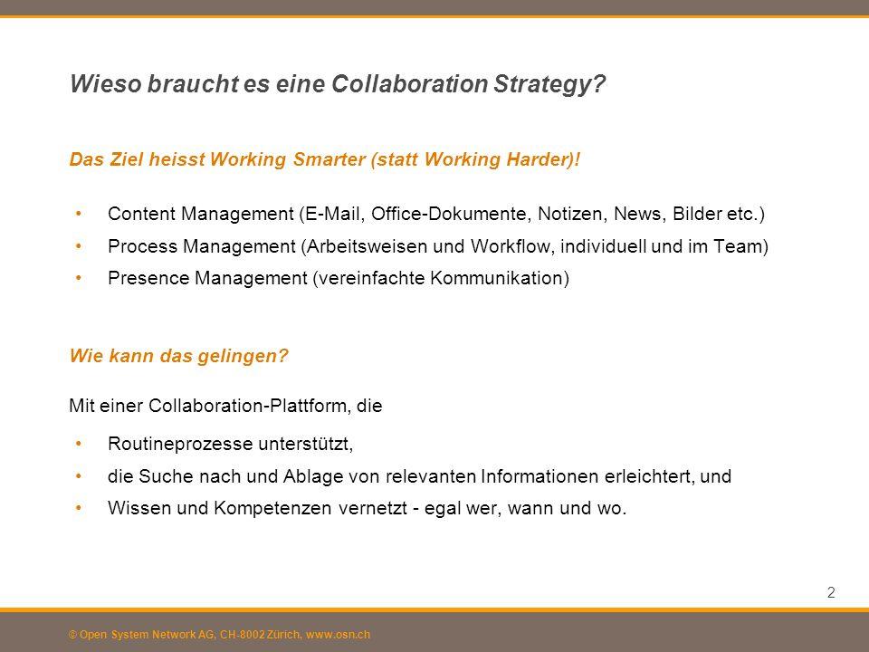 Wieso braucht es eine Collaboration Strategy