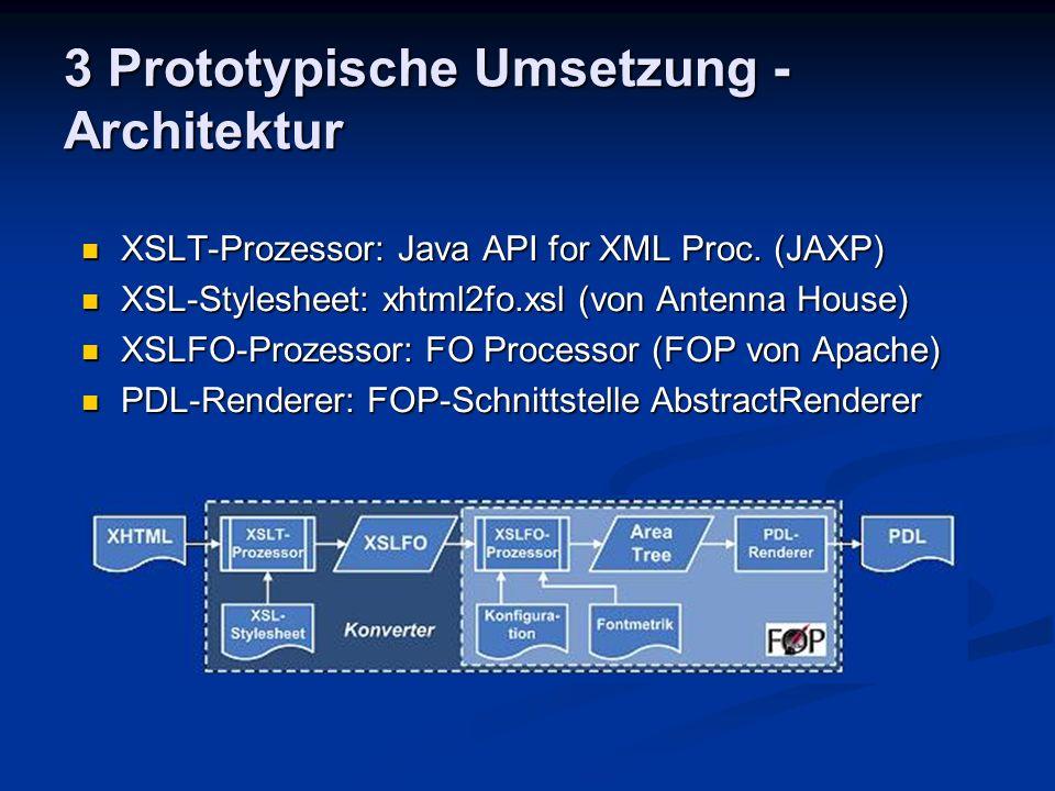3 Prototypische Umsetzung - Architektur