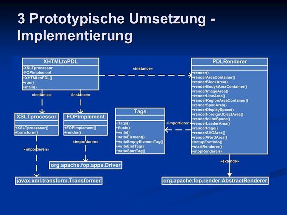 3 Prototypische Umsetzung - Implementierung