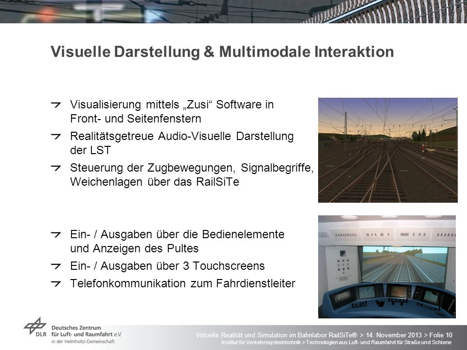 Visuelle Darstellung & Multimodale Interaktion