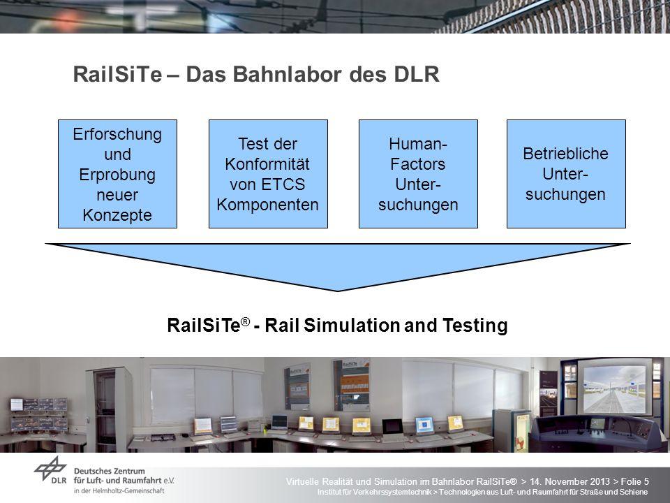 RailSiTe – Das Bahnlabor des DLR