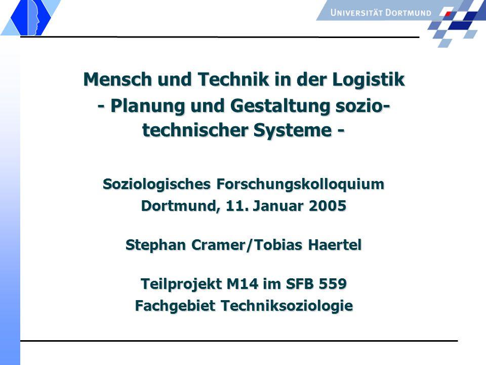 Mensch und Technik in der Logistik