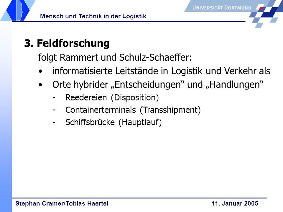 3. Feldforschung folgt Rammert und Schulz-Schaeffer: