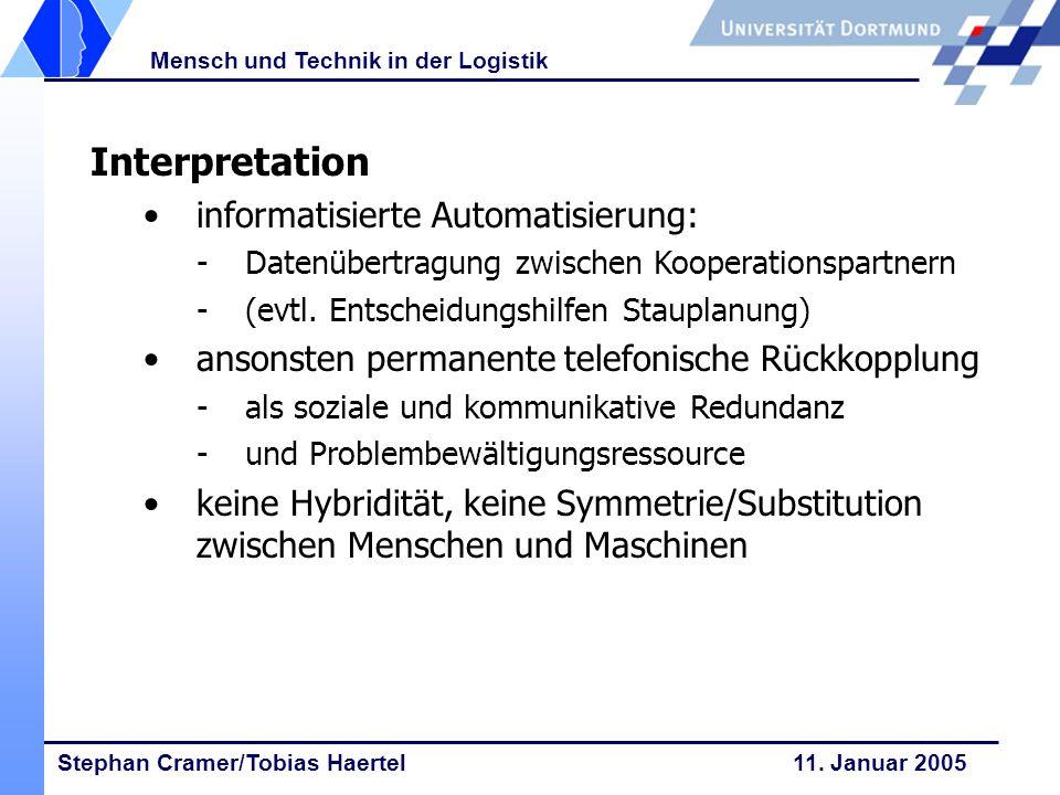 Interpretation informatisierte Automatisierung: